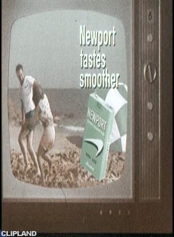 Newport Cigarettes - The Living TV, Beach, Man Falling Asleep