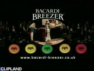 Still image from Bacardi Bacardi Breezer - Tomcat: Goal (There's Latin Spirit In Everyone.)