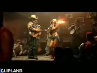 Still image from Jessica Simpson feat. Willie Nelson - These Boots Are Made For Walking