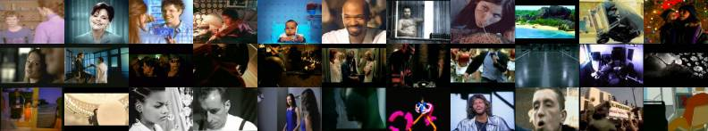 Random Mosaic of Stills at Clipland: find information regarding music videos, movie trailers, tv commercials and short films